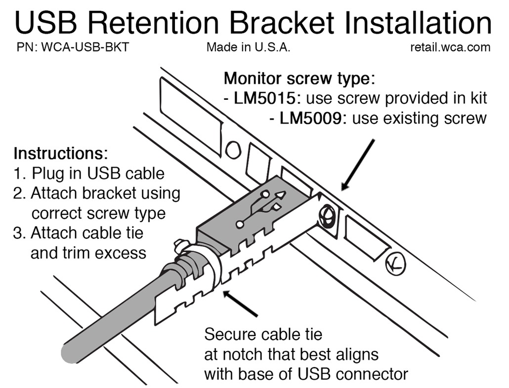 Reduce POS Time With A USB Retention Bracket Installation