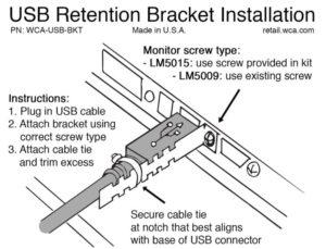 USB retention bracket